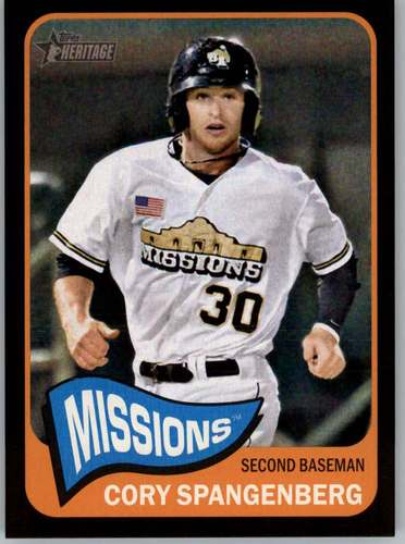Photo of 2014 Topps Heritage Minors Black #186 Cory Spangenberg