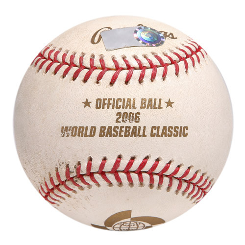 2006 Inaugural World Baseball Classic: (CUBA vs. NED) Round 1 - Game-Used Baseball