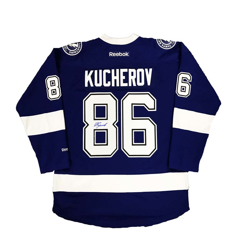 NIKITA KUCHEROV Signed Tampa Bay Lightning Blue Reebok Jersey