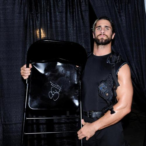 Seth Rollins USED & SIGNED Steel Chair (RAW - 06/02/14)