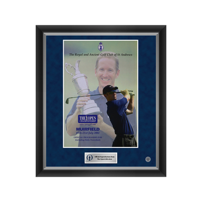 Photo of 1 of 500 L/E The 131st Open Muirfield 2002 Enlarged Programme Cover Reproduction Framed