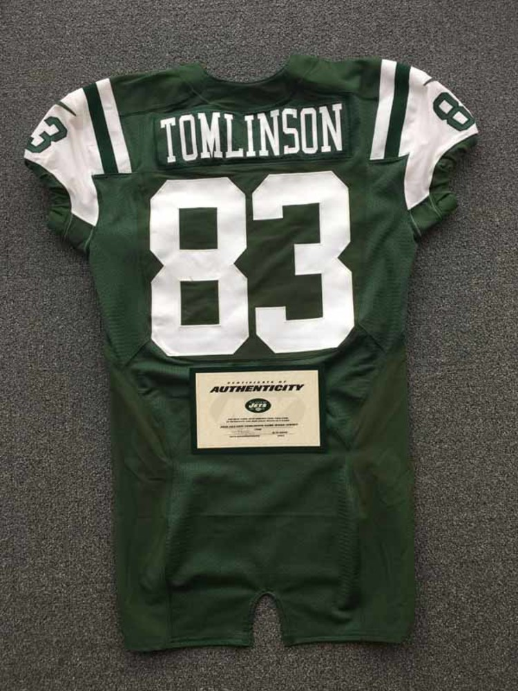 best loved e8176 84406 NFL Auction | New York Jets - 2016 #83 Eric Tomlinson Game ...