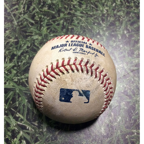 Game-Used Baseball NYM@MIL 05/25/18 - Noah Syndergaard - Manny Pina: Single
