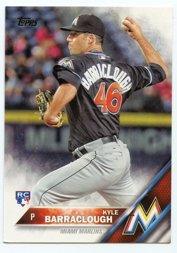 Photo of 2016 Topps #519 Kyle Barraclough RC