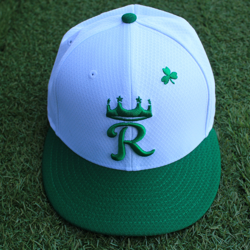 Photo of Team-Issued Saint Patrick's Day Cap: Eric Skoglund (Size 7 1/8 - SEA @ KC - 3/17/19)