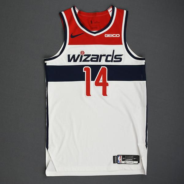 Image of Ish Smith - Washington Wizards - Kia NBA Tip-Off 2019 - Game-Worn Association Edition Jersey - Wizards' Debut