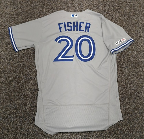 Photo of Authenticated Team Issued Jersey - #20 Derek Fisher (2019 Season). Size 46.