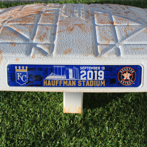 Photo of Game-Used 3rd Base: George Springer 156th Career Home Run  (Innings 6-9 - KC vs HOU - 9/13/2019)