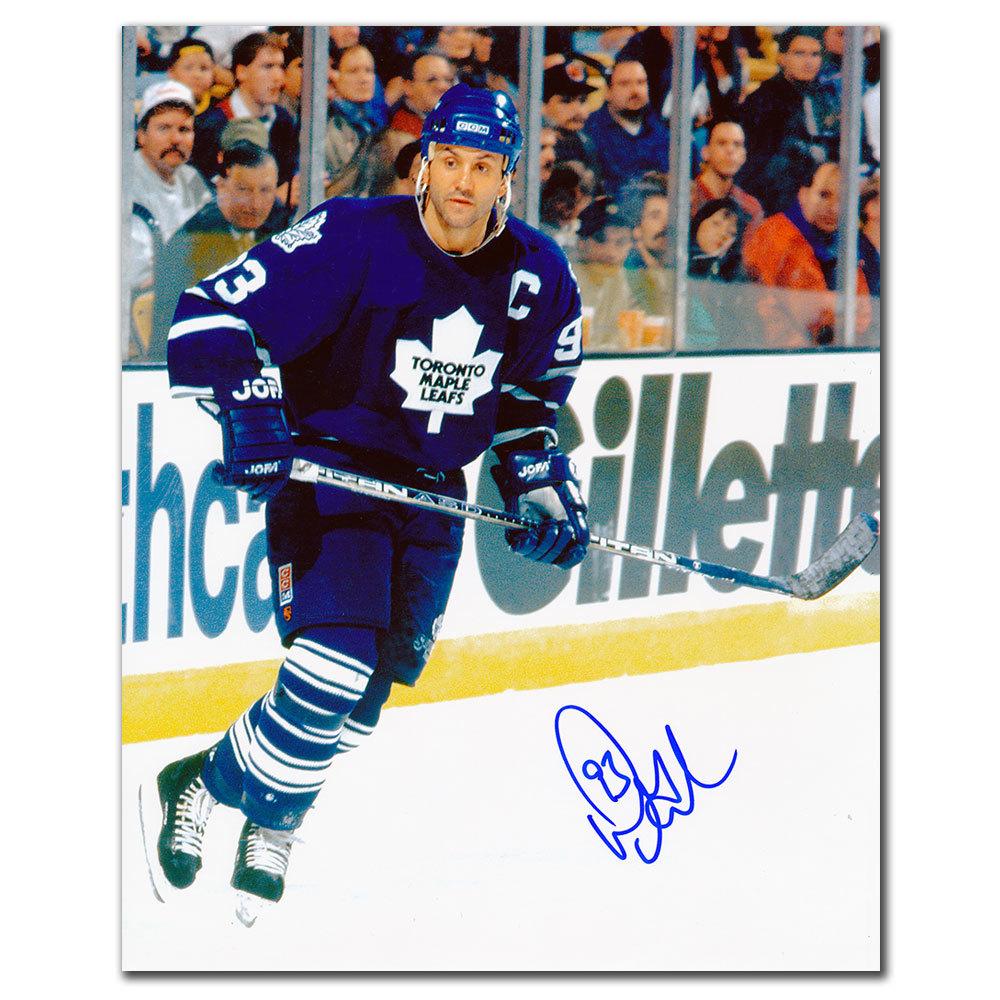 Doug Gilmour Toronto Maple Leafs CAPTAIN Autographed 8x10