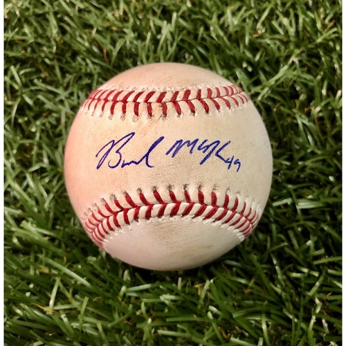 Photo of Game Used Autographed Baseball: Brendan McKay MLB DEBUT - June 29, 2019 v TEX