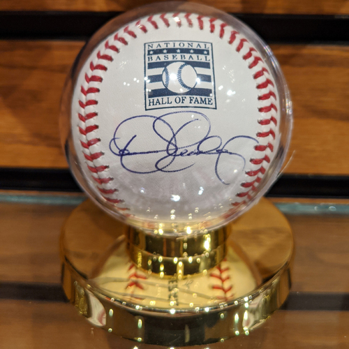 Photo of Dennis Eckersley Autographed National Baseball Hall of Fame Baseball