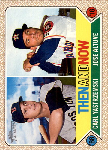 Photo of 2017 Topps Heritage Then and Now #TAN11 Carl Yastrzemski/Jose Altuve