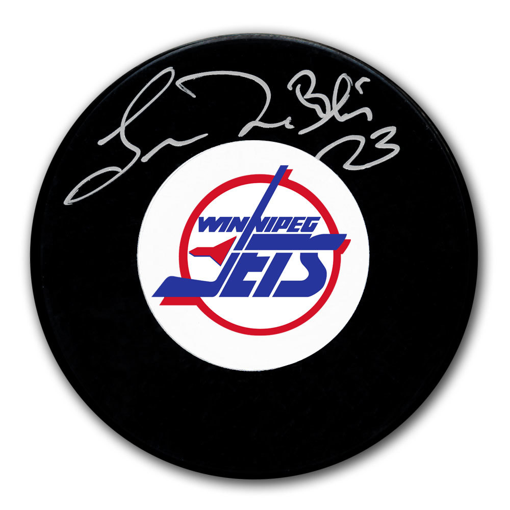 Lucien DeBlois Winnipeg Jets Autographed Puck