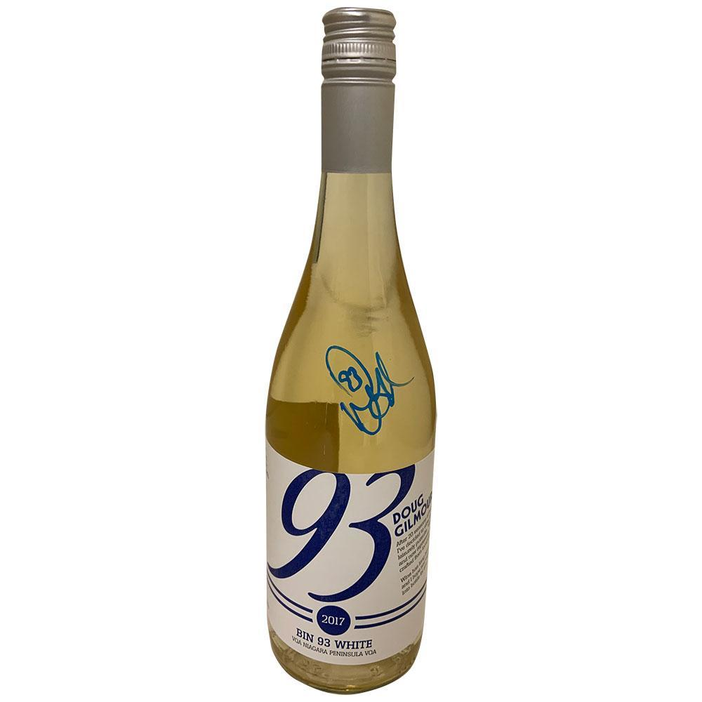 Doug Gilmour Autographed Doug Gilmour White Wine Bottle