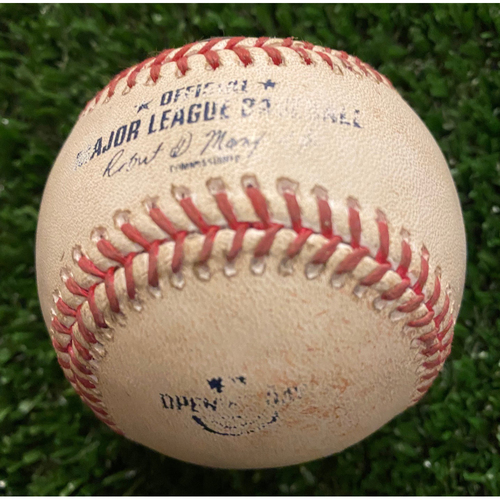 Photo of Charlie Morton Pitched to Marcell Ozuna, 3 Balls (1 in Dirt) - 2020 Opening Day - 7/29/20 vs. TB