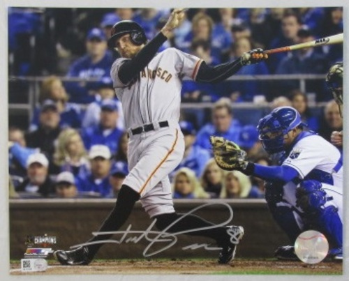 Photo of Hunter Pence Autographed Batting 16x20