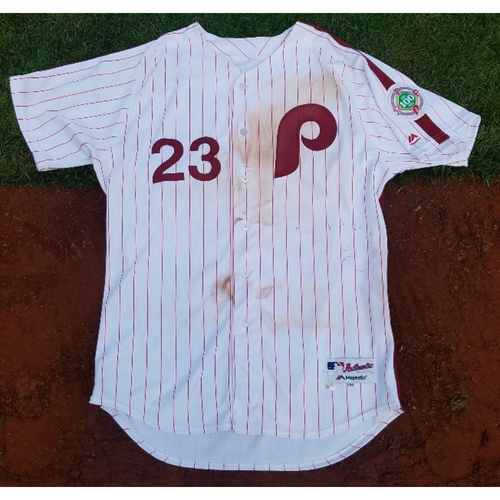 2017 Game-Used Retro Jersey: Aaron Altherr (home run)