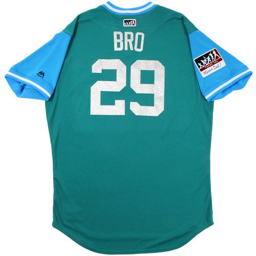 "Photo of Scott ""Bro"" Brosius Seattle Mariners Game-Used Players Weekend Jersey"