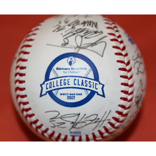 Photo of Autographed Texas TechTeam 2017 SHC College Classic Baseball - Not MLB Authenticated