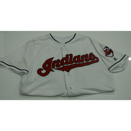 Photo of Trevor Bauer Game-Used Jersey (BAUER COLLECTS 200TH STRIKEOUT OF THE SEASON)