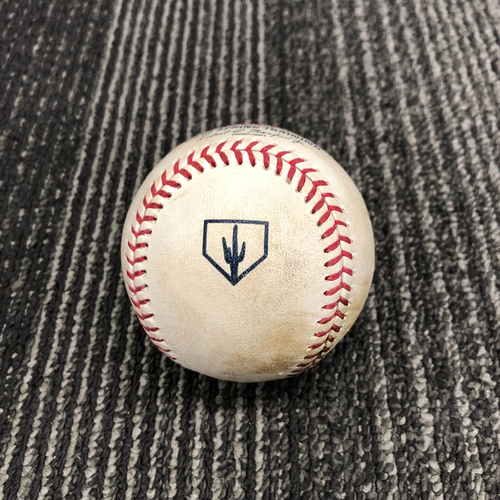 Photo of 2019 Spring Training Game Used Baseball vs. Chicago White Sox - B-5: Jace Fry to Zach Green - Foul to Screen