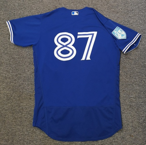 Photo of Authenticated Team Issued 2019 Spring Training Jersey - #87 Reggie Pruitt. Size 46