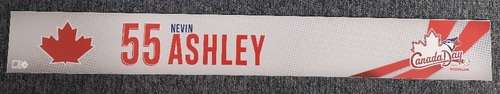 Photo of Authenticated Game Used Canada Day Locker Tag - #55 Nevin Ashley (July 1, 19)