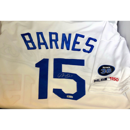 Photo of Austin Barnes Authentic Autographed Los Angeles Dodgers Jersey - Newcombe