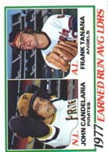 Photo of 1978 Topps #207 ERA Leaders DP/John Candelaria/Frank Tanana