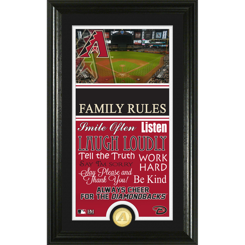 Photo of Arizona Diamondbacks Personalized Family Rules Photo Mint