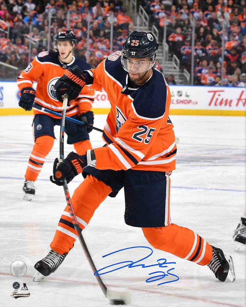 Darnell Nurse Signed 8x10 Unframed Oilers Orange Shooting