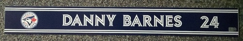 Photo of Authenticated Game Used Locker Name Plate - #24 Danny Barnes (Sept 24, 18)