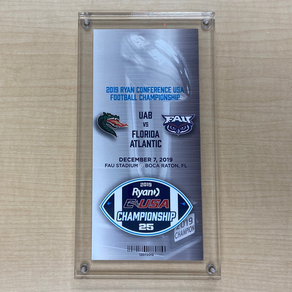 Photo of Commemorative 2019 Conference USA Championship Ticket