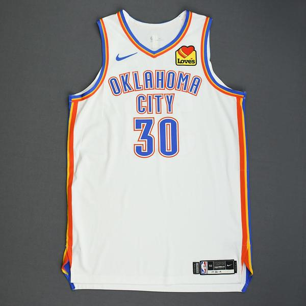 Image of Deonte Burton - Oklahoma City Thunder - Game-Worn Association Edition Jersey - Dressed, Did Not Play - 2019-20 NBA Season