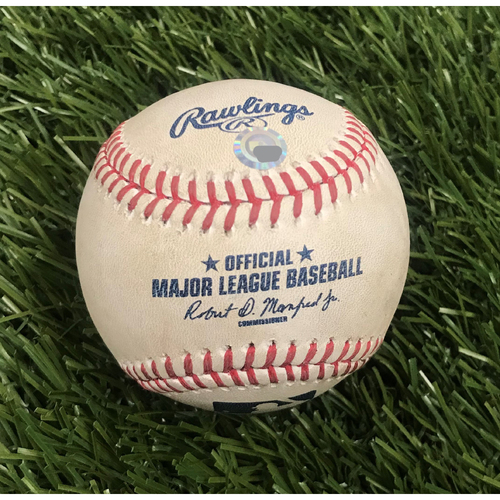 Photo of Game-Used Baseball from May 11, 2016 - Max Scherzer 20 Strikeouts - Pitcher - Jordan Zimmermann, Batter - Jayson Werth Foul