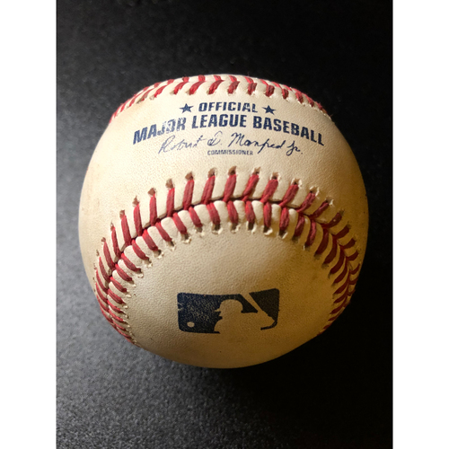 Photo of Game-Used Baseball - 2020 NLCS - Atlanta Braves vs. Los Angeles Dodgers - Game 6 - Pitcher: Chris Martin, Batter: Joc Pederson (5 Pitches, Single) - Bot 8