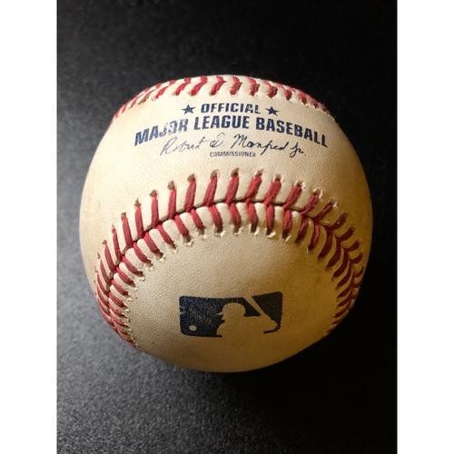 Photo of Game-Used Baseball - 2020 NLCS - Atlanta Braves vs. Los Angeles Dodgers - Game 6 - Pitcher: Chris Martin, Batter: Joc Pederson (5 Pitches, Single) - Bot 8