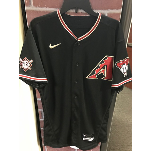 Photo of 2020 Tim Locastro Game-Used Jackie Robinson Day Jersey: 8/28/20 vs. Giants (Locastro went 1-3 with 2 BB and 2 Runs Scored)
