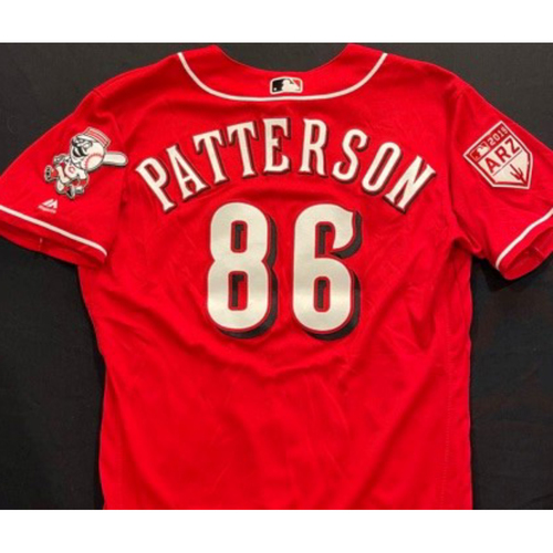 Photo of PATTERSON -- Authentic Reds Jersey -- $1 Jersey Auction -- $5 Shipping -- Size 46 (Not MLB Authenticated)