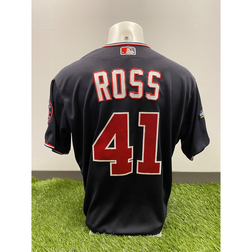 Photo of Team-Issued Joe Ross 2019 Navy Script Jersey with Postseason Patch - Set 2
