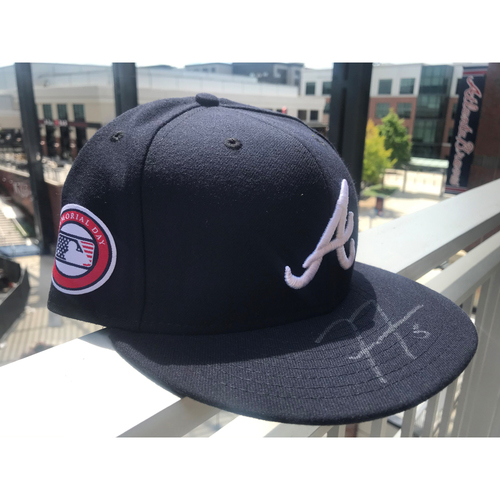 Photo of Freddie Freeman Autographed MLB New Era Memorial Day Cap