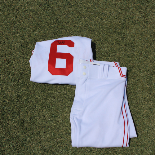 Photo of Game-Used & Autographed Monarchs Jersey & Game-Used Pants: Pedro Grifol #6 (DET @ KC 5/23/21) - Size 48