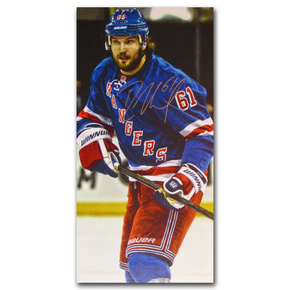 Rick Nash Autographed New York Rangers 14X28 Canvas