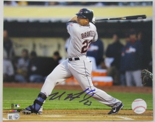 Photo of Michael Brantley Autographed 16x20 Photograph (Batting)