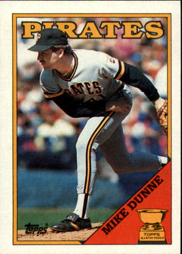 Photo of 1988 Topps #619 Mike Dunne/Inconsistent design,/black name on front
