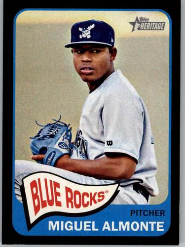 Photo of 2014 Topps Heritage Minors Black #202 Miguel Almonte