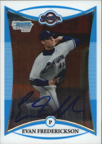Photo of 2008 Bowman Chrome Draft Prospects #BDPP121 Evan Frederickson AU
