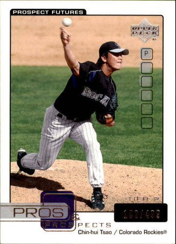 Photo of 2005 Upper Deck Pros and Prospects #175 Chin-Hui Tsao T2 /499