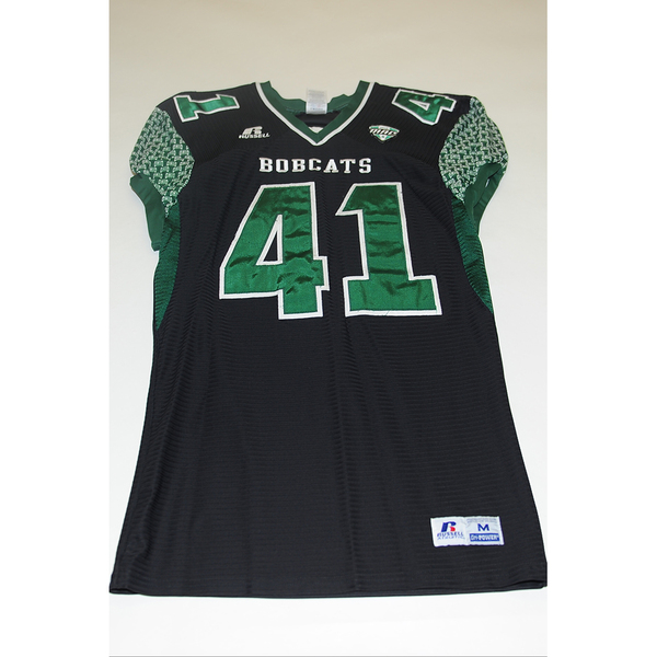 Photo of # 41 - Official OHIO BOBCATS Game Worn Football Jersey (2011) - SIZE MEDIUM