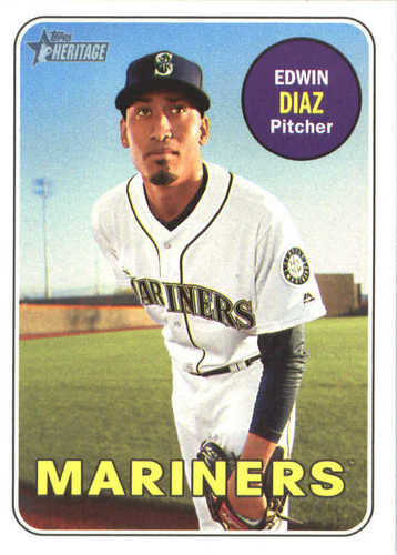 Photo of 2018 Topps Heritage #102 Edwin Diaz